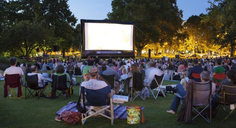 Cinéma plein air, Mairie de Mésanger