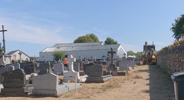 Aménagement du cimetière