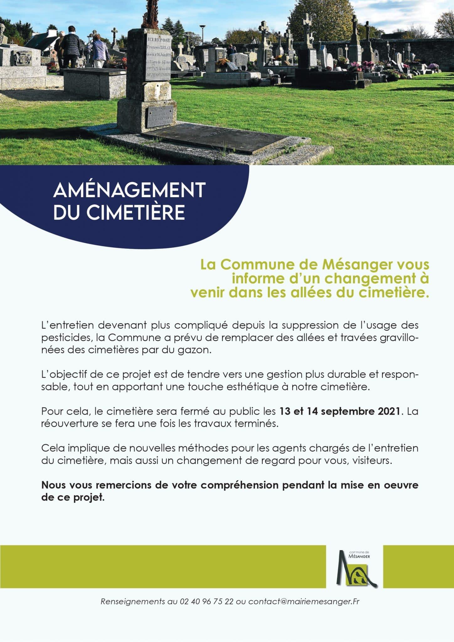 Aménagement du cimetière, Mairie de Mésanger