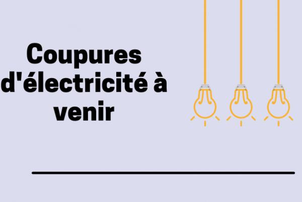 Coupure d'électricité à venir, Mairie de Mésanger
