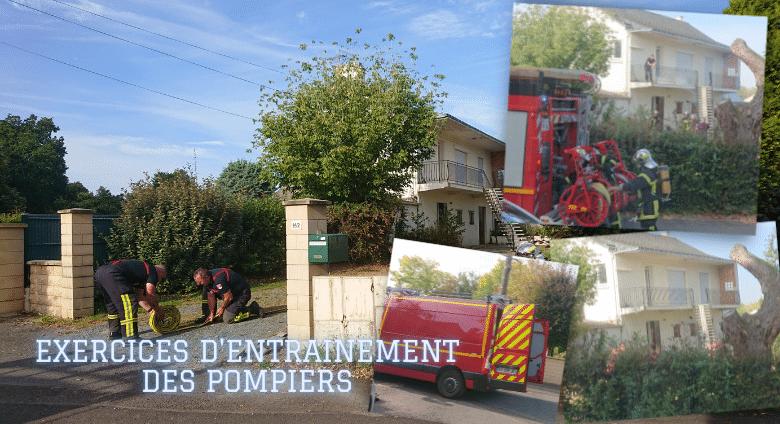 Exercices d'entrainement des pompiers