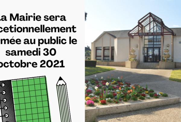 Fermeture exceptionnelle de la Mairie, Mairie de Mésanger