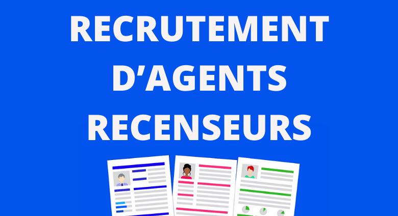 RECRUTEMENT D'AGENTS RECENSEURS